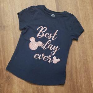 Disney rose gold glitter shirt